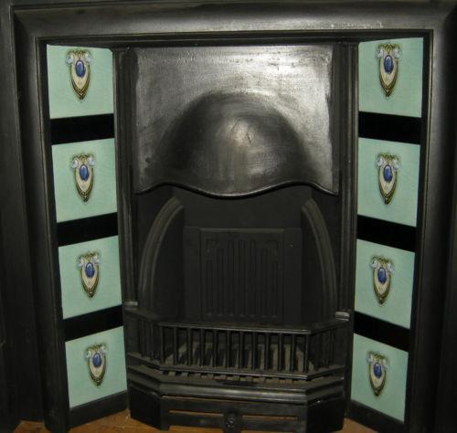 Superb Art Nouveau Fireplace Tiles ref 007 set