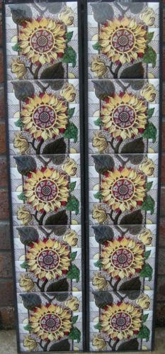 Arts & Crafts Sunflower Tile Set ref 002