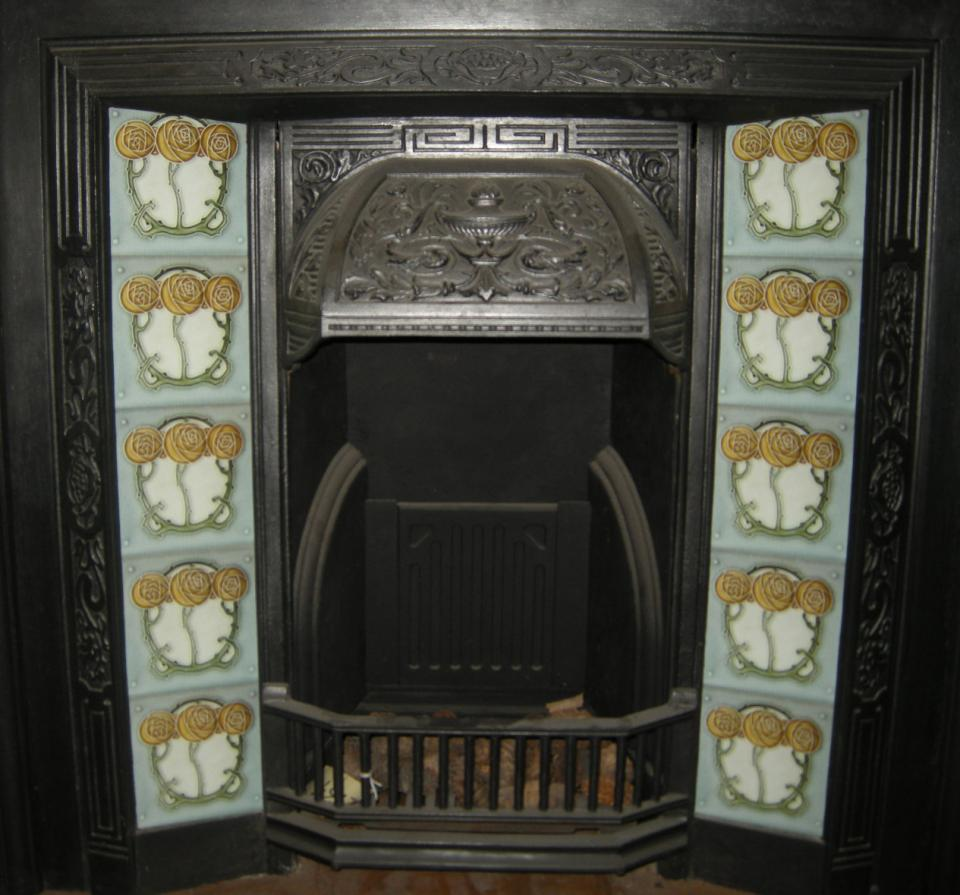 Mackintosh Rose Fireplace Tile Set ref 3