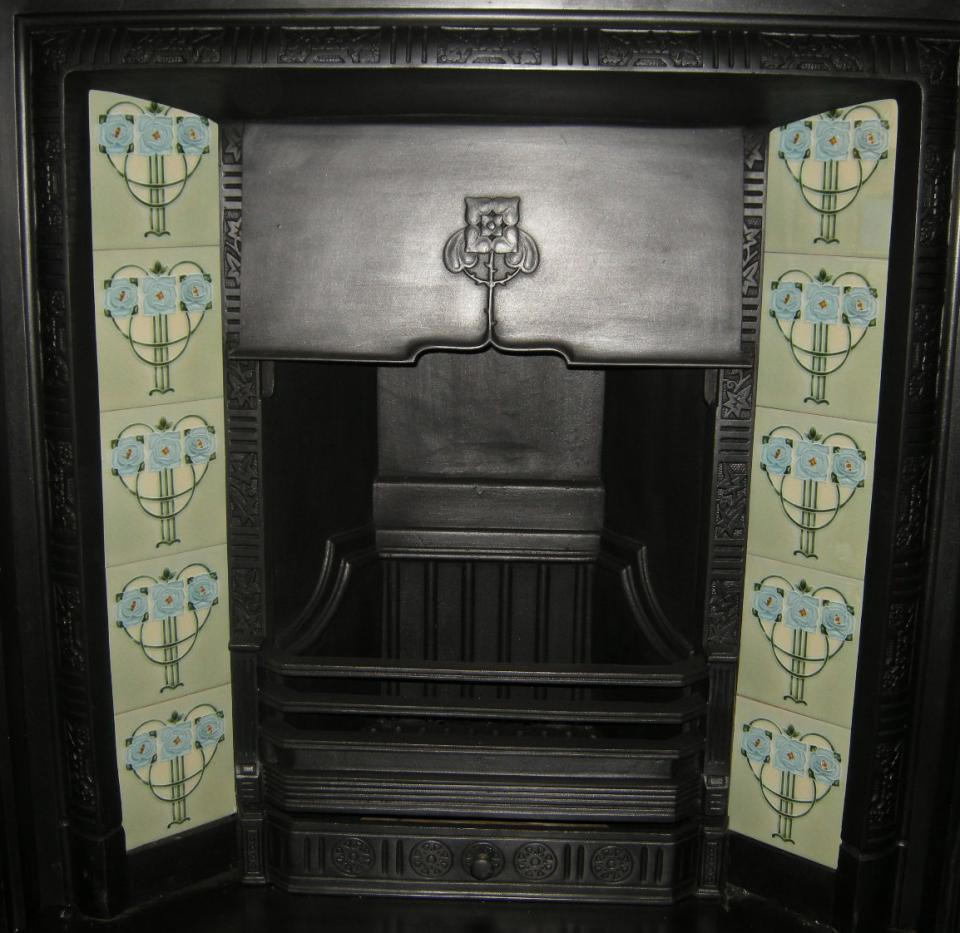 Mackintosh Rose Fireplace Tile Set ref mac 2