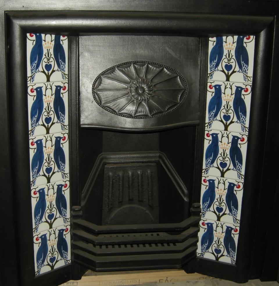 Voysey Love Birds Fireplace Tiles Set
