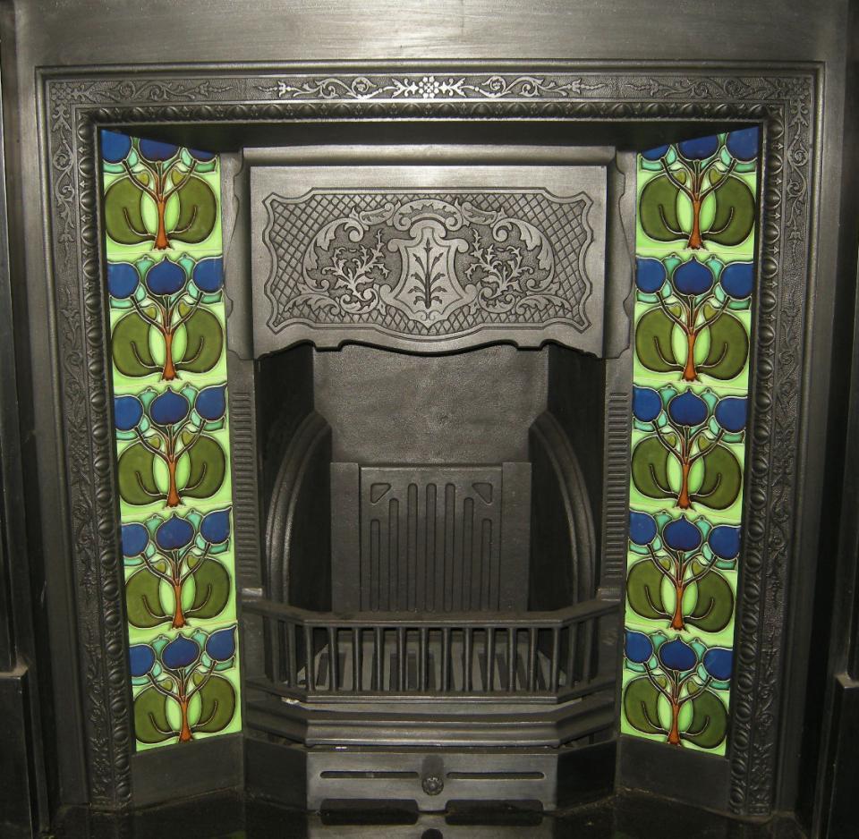 Stylised Art Nouveau Fireplace Tiles ref 002 set