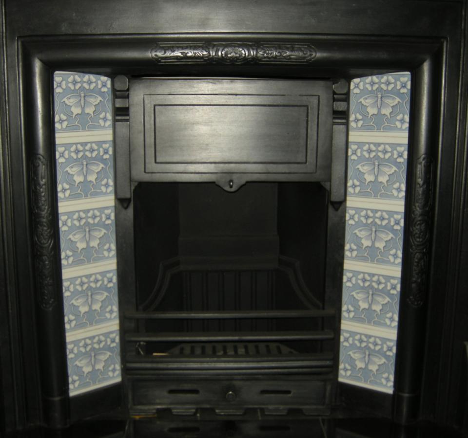 Art Nouveau Butterfly Fireplace Tiles Set