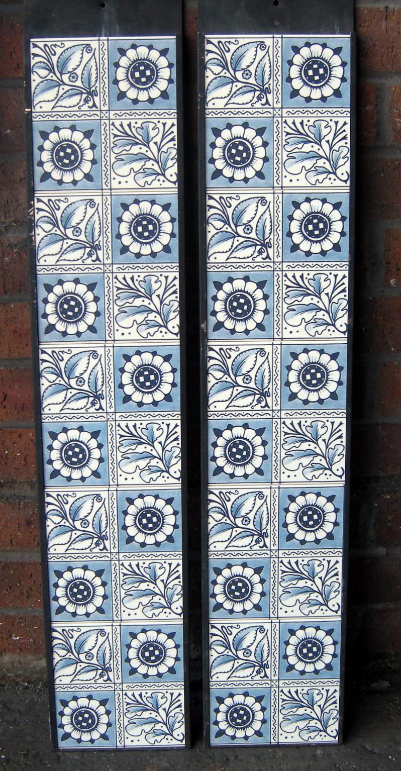 William Morris Oakleaf Design Fireplace Tiles Set