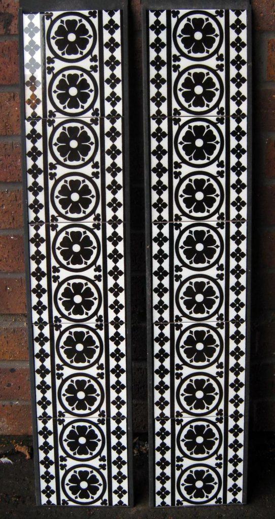 Gothic Pugin Fireplace Tiles Set 001 Black
