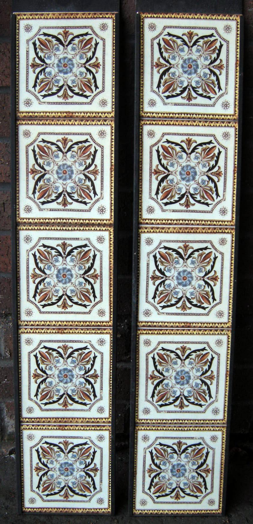 Victorian Style  Fireplace Tiles Set ref vic 2