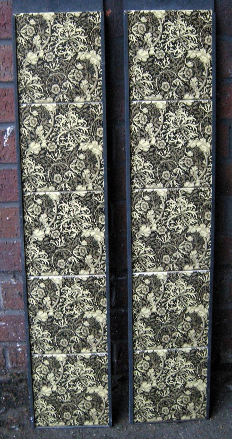 William Morris Seaweed Grey Arts & Crafts Tile Set