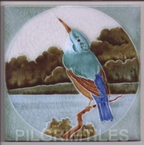 Kingfisher Arts and Crafts tile