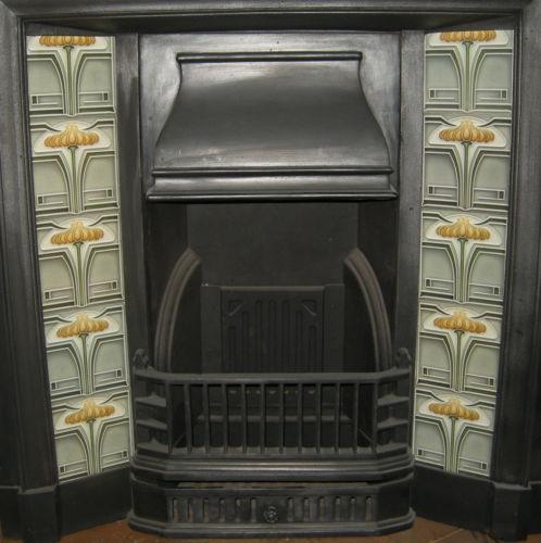 Stylised Art Nouveau Fireplace Tiles ref 011 set