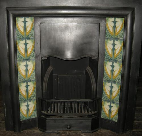 Art Nouveau / Arts & Crafts Fireplace Tiles ref 020 set