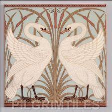 Walter Crane Swans Pale Green