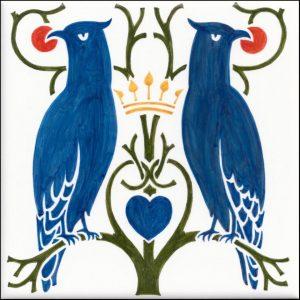 Voysey  Love Birds tile