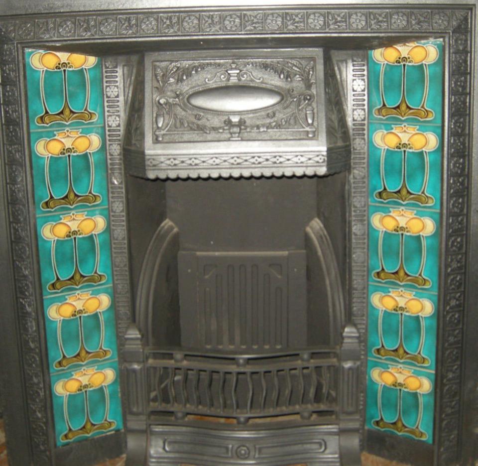 Art Nouveau / Arts & Crafts Fireplace Tiles ref an 31set
