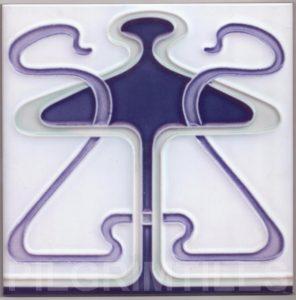 Art Nouveau stylized Tiles  ref An100