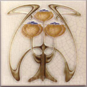 Art Nouveau stylized Tiles  ref An101