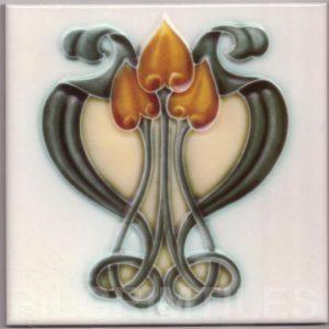 Art Nouveau stylized Tiles  ref An104
