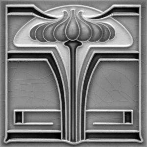 Art Nouveau Stylised & Geometric Tile ref 011 grey