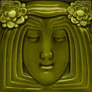 Lady Gold Art Nouveau Arts and Crafts Tile an119