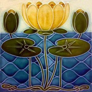 Art Nouveau Lily Tiles ref 039