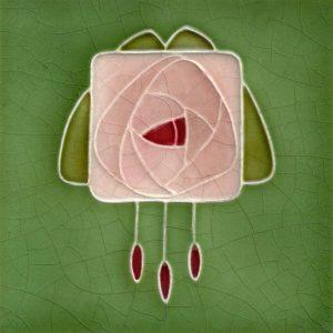 Art Nouveau stylised Rose Tiles  ref 42