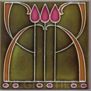 Art Nouveau stylised Tiles  ref An44
