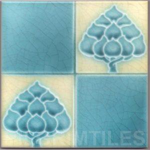 Art Nouveau stylized Tiles  ref An47