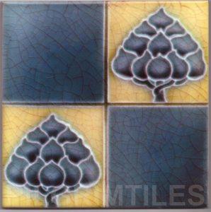 Art Nouveau stylized Tiles  ref An47a