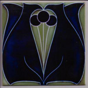 Art Nouveau Stylised Floral tile ref 005