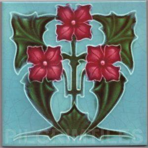 Art Nouveau stylized Tiles  ref An50