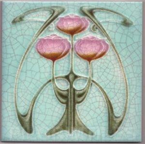 Art Nouveau stylized Tiles  ref An55