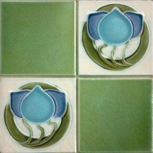 Art Nouveau stylized Tiles  ref An62