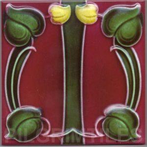 Art Nouveau stylized Tiles  ref An63