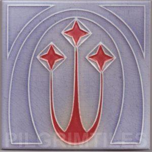 Art Nouveau stylized Tiles  ref An64