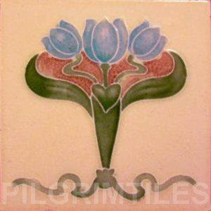 Art Nouveau stylized Tiles  ref An67