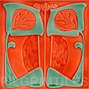 Art Nouveau stylized Tiles  ref An71