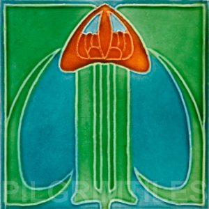 Art Nouveau stylized Tiles  ref An73