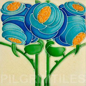 Art Nouveau stylized Tiles  ref An74