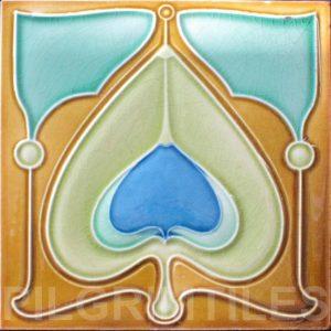 Art Nouveau stylized Tiles  ref An84