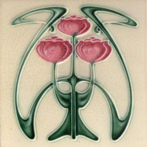 Art Nouveau stylized Tiles  ref An91