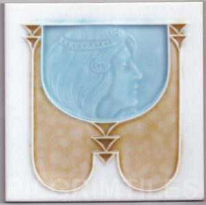 Art Nouveau stylized Tiles  ref An95
