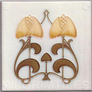 Art Nouveau stylized Tiles  ref An97