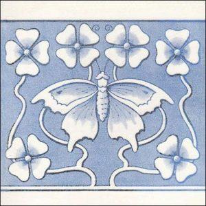 Art Nouveau Butterfly Tile
