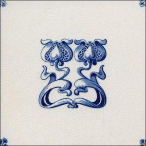 Art Nouveau Delft Style Tiles