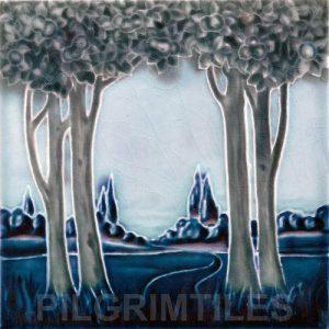Trees in Landscape Blue