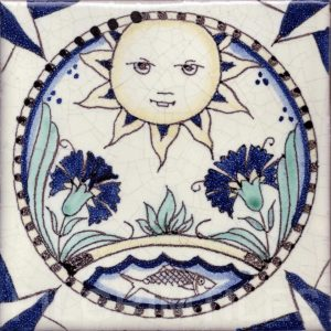 Arts and Crafts Style decorative tile Cosmos 3