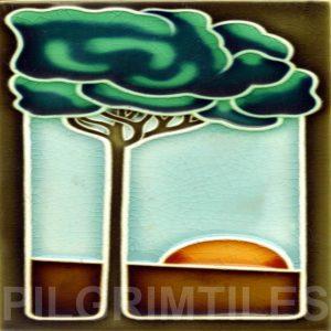 Art Deco Style Tile  Slim Tree