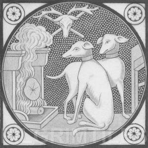 Aesthetic Movement tile  -  Whippet grey