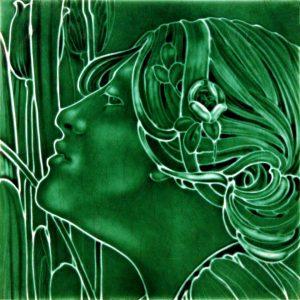 Lady  Flaxman  Art Nouveau Arts and Crafts Tile