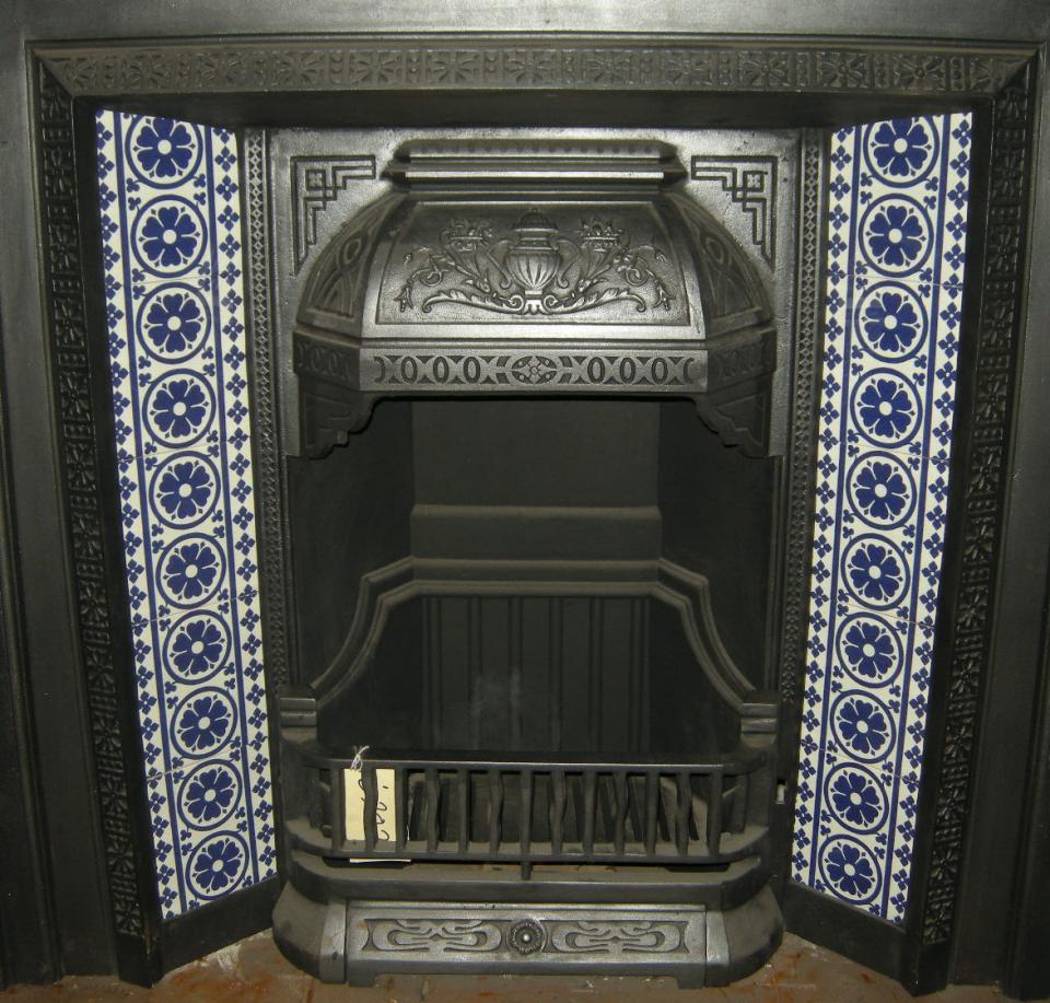 Gothic Pugin Fireplace Tiles Set 001