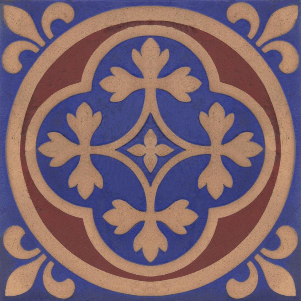 Gothic Pugin Fireplace Tiles Set 009